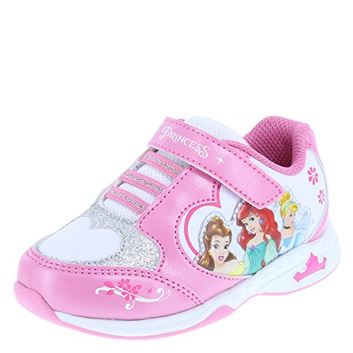 Disney Princess Girl's Pink White Girls' Toddler Princess Light-up Runner Little Kid Size 11 Regular