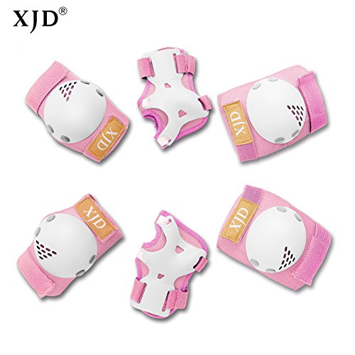 XJD Kids Knee Pads Elbow Pads Wrist Guards Protective Gear Set Kids Inline Roller Skating Cycling Bike Rollerblading Scooter Riding Sports Protective Guard Pads