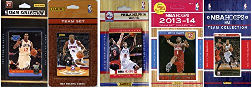 NBA Philadelphia 76ers 5 Different Licensed Trading Card Team Sets, Brown, One Size by C&I Collectables