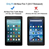 All-New Fire 7 Screen Protector (2017 Release) - OMOTON Tempered Glass Screen Protector for All-New Fire 7 Tablet with Alexa (2017 Release)