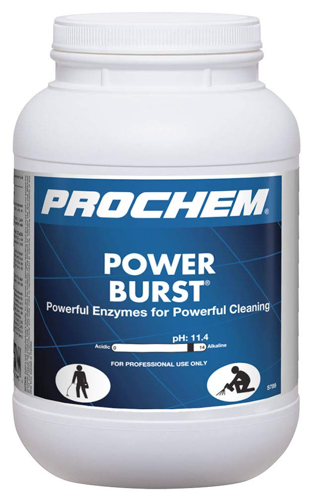 Prochem Power Burst, Professional Highly Concentrated Carpet Cleaning Powder, 1 Gal