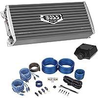 Boss Audio AR2400.4 2400 Watt 4-Channel Car Audio Amplifier+Amp Kit+Bass Remote