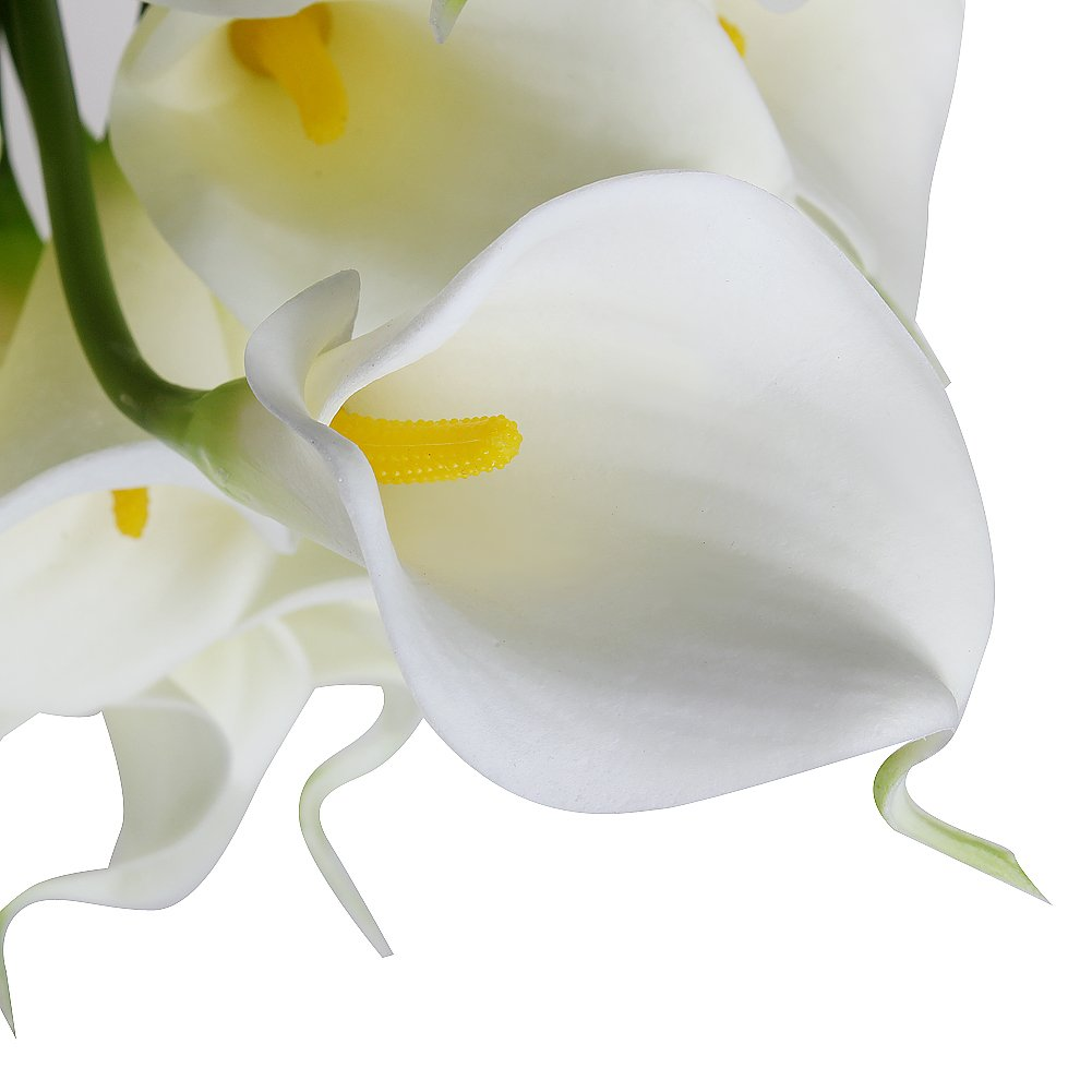 Amazon leegoal calla lily bridal wedding bouquet real touch pu amazon leegoal calla lily bridal wedding bouquet real touch pu flowers white set of 10 pcs home kitchen izmirmasajfo
