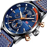 MF Mini Focus Mens Analog Watch Chronograph Waterproof Business Quartz Wrist Watches for Mens Gift