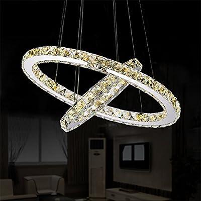 Garwarm Modern Crystal Chandeliers,Ceiling Lights Fixtures,Pendant Lighting for Living Room Bedroom Restaurant Porch Dining Room