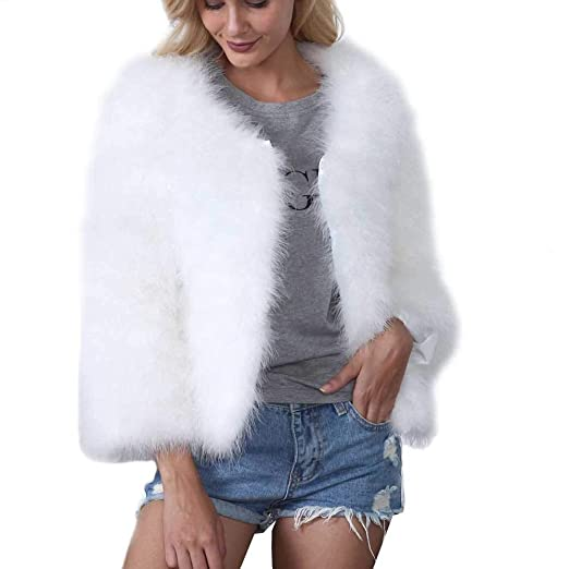3218fd93d18 Image Unavailable. Image not available for. Color  Inverlee Women Fake Faux  Fur Coat ...