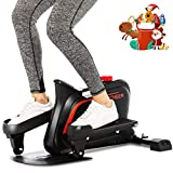 ANCHEER Under Desk Elliptical Trainer Pedal Exerciser Bike, Mini Stepper Equipment with Display Monitor & Adjustable Resistance – Quiet & Compact, Easy to Assemble for Home Office Fitness
