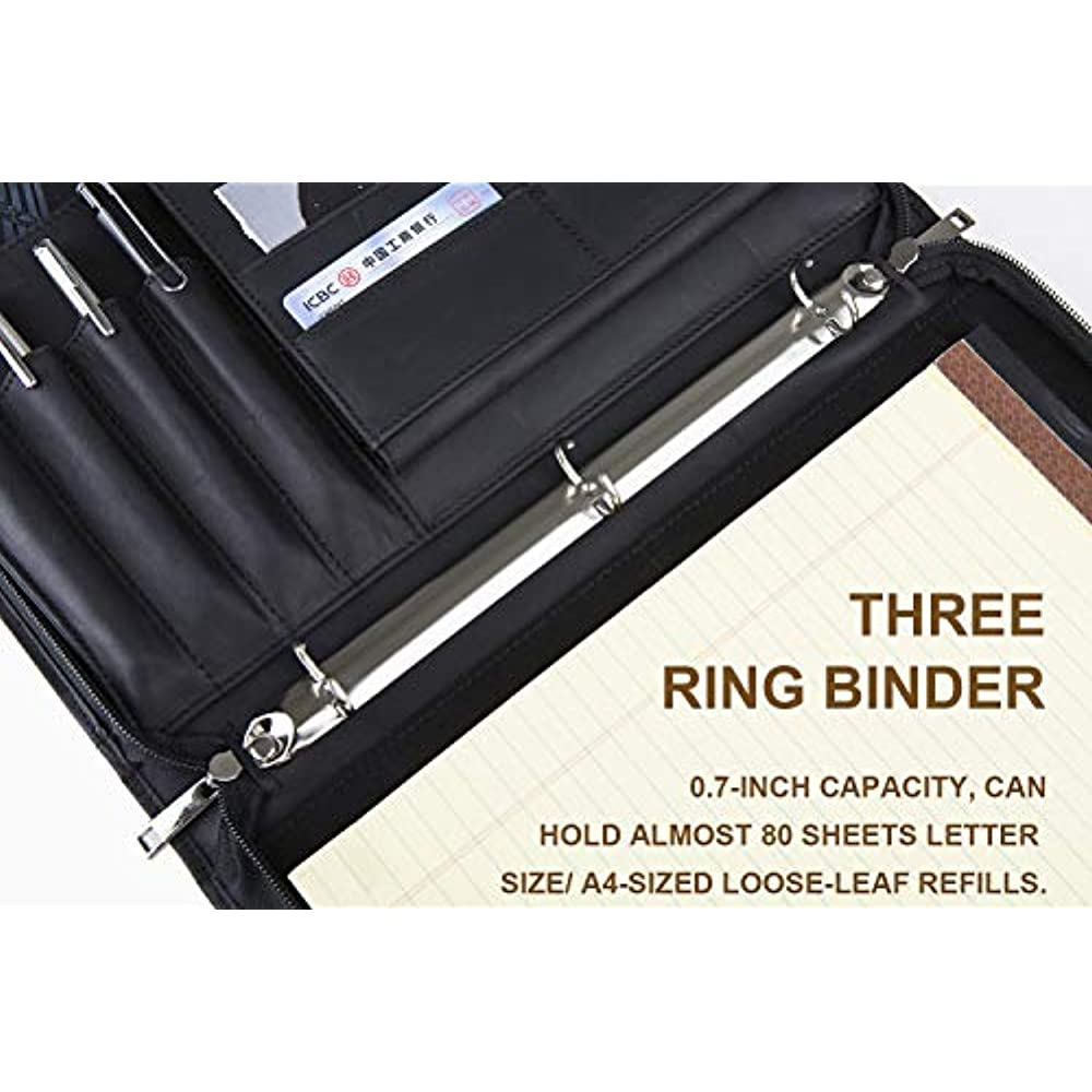 padfolio 3 ring binder 1 u002639 u002639 o ring   double zipper