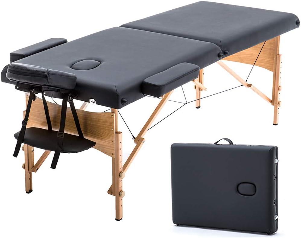 T-LoVendo TLV-MT15B Camilla masaje plegable de madera mesa cama ...