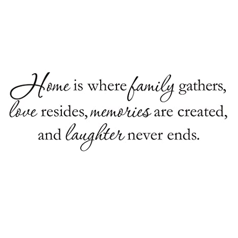 buy home is where the family gathers family wall quotes vinyl