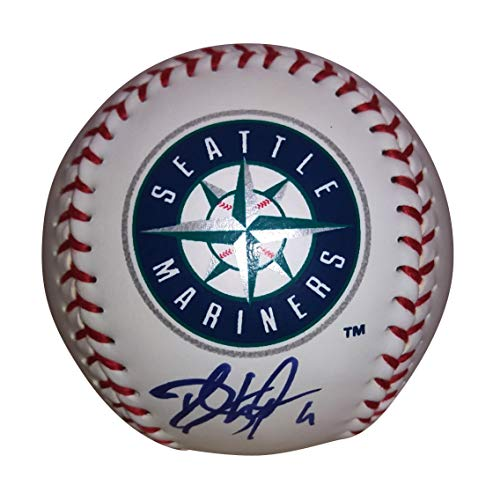 Seattle Mariners Dee Gordon Autographed Hand Signed Logo Baseball with Proof Photo of Signing and COA