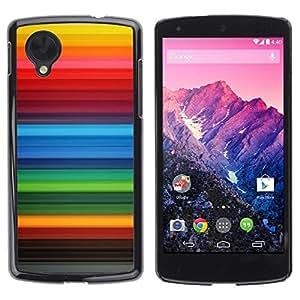Be Good Phone Accessory // Dura Cáscara cubierta Protectora Caso Carcasa Funda de Protección para LG Google Nexus 5 D820 D821 // Stripes Background Rainbow Gay Red