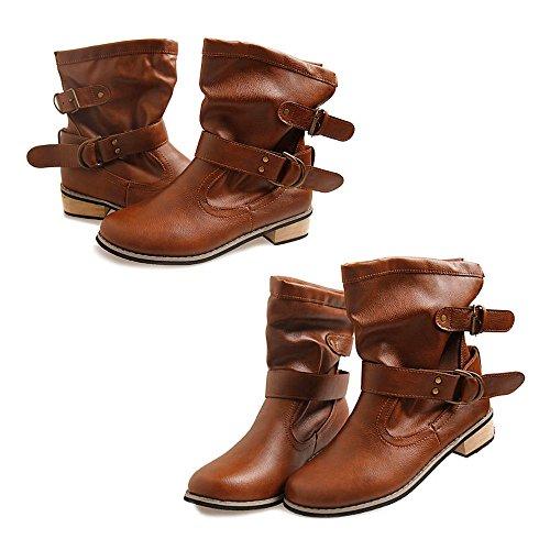 Logobeing 35 Botines 40 39 Martin 38 Cuña Moda Plataforma marrón 36 Cómodo Marrón xy244 37 De negro Tacon Altas Zapatos Mujer Botas Invierno Calzado rqtwHRSZrn