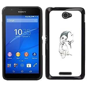 Caucho caso de Shell duro de la cubierta de accesorios de protección BY RAYDREAMMM - Sony Xperia E4 - Pink & Bird