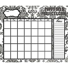 Organize It Dry Erase Calendar - 15x18 (BLACK DEMASK)