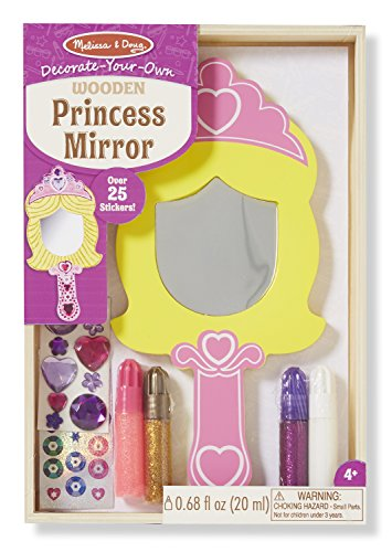 Mirror Craft Kit - Melissa & Doug Decorate-Your-Own Wooden Princess Mirror Craft Kit