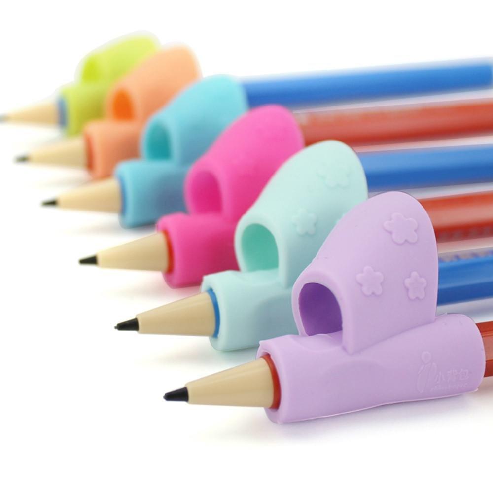 FTXJ 1Set Handwriting Claw Aid Grip Pencils Pen Holder for Kids Kindergarten Students (3PCS A)