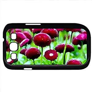 meadow (Flowers Series) Watercolor style - Case Cover For Samsung Galaxy S3 i9300 (Black)