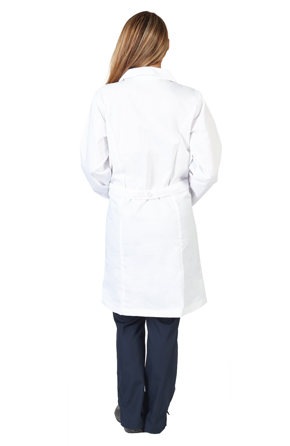 Natural Uniforms Unisex 40 inch Lab Coat, White (XXSmall) by Natural Uniforms (Image #2)