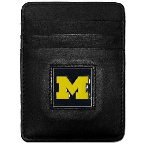 Siskiyou NCAA Michigan Wolverines Leather Money Clip/Cardholder