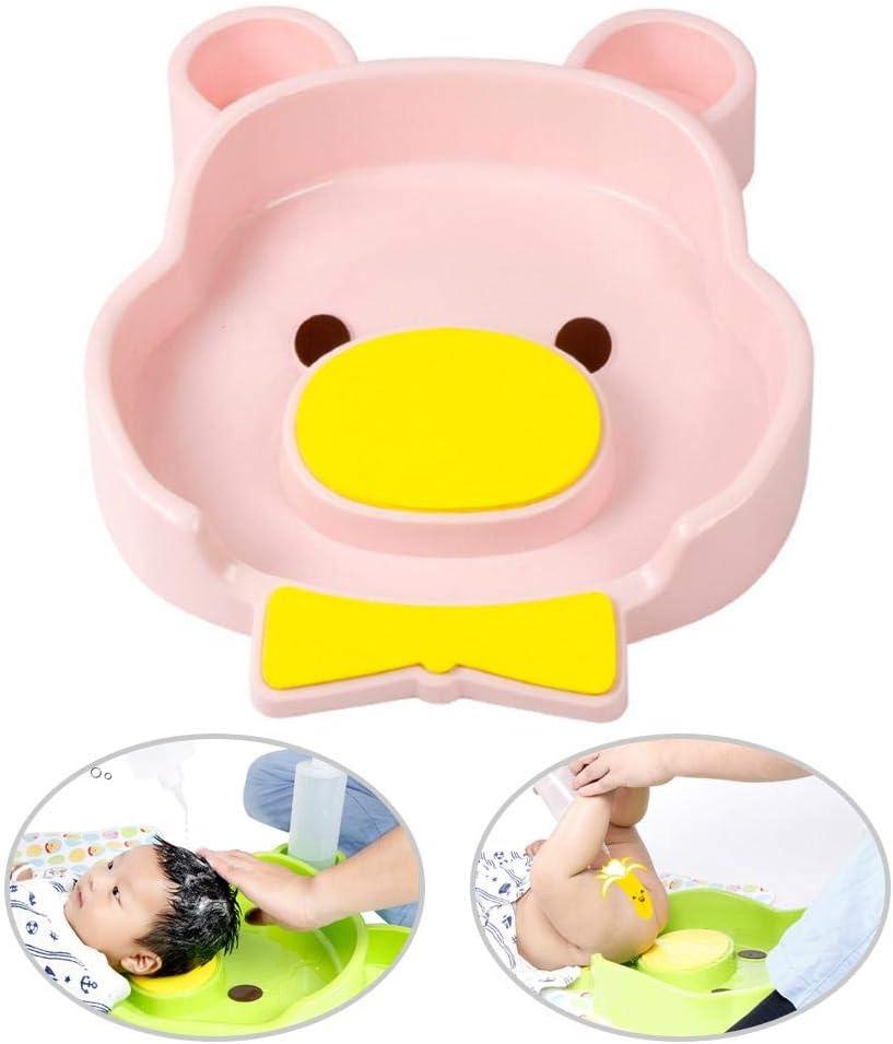 Bidet Plastic Baby Wash Basin Newborn Bathtub Clean Ass Infant PP Bath Baby Bidet and Lay Tub for Washing Hair 2 in 1 Color : Blue
