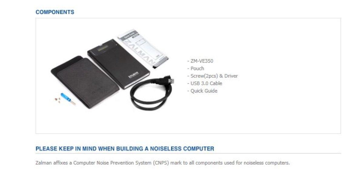 Zalman ZM-VE350 USB 3.0 External 2.5'' Hard Drive Enclosure With Built-In Virtual CD Emulator (ZM-V350B)