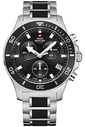 Military 01 Mens Steel Sm34067 Chrono Watch Analogue Swiss With Quartz Bracelet Stainless w0PO8nkX