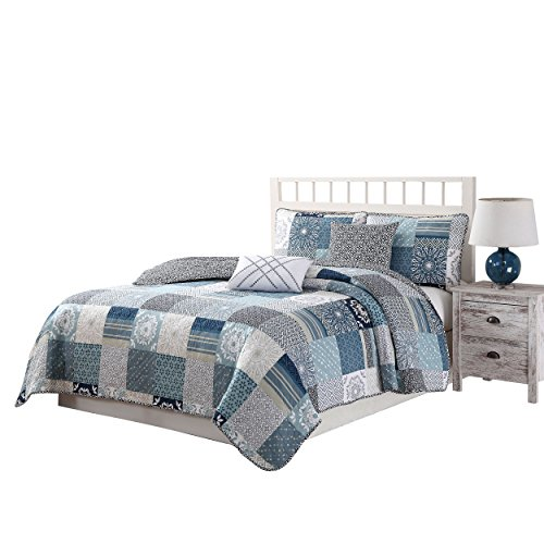 Quaint Home Avignon Reversible 5-Piece Quilt Set, (Avignon Pillow)