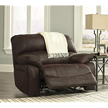 Ashley 4290152 Zavier 54u0026quot; Wide Seat Recliner with Jumbo Stitching Metal Construction and Fabric Upholstery & Amazon.com: Ashley 4290152 Zavier 54u0026quot; Wide Seat Recliner with ... islam-shia.org