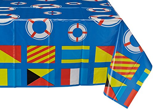 Beistle 57069 Nautical Tablecover 108 Inch
