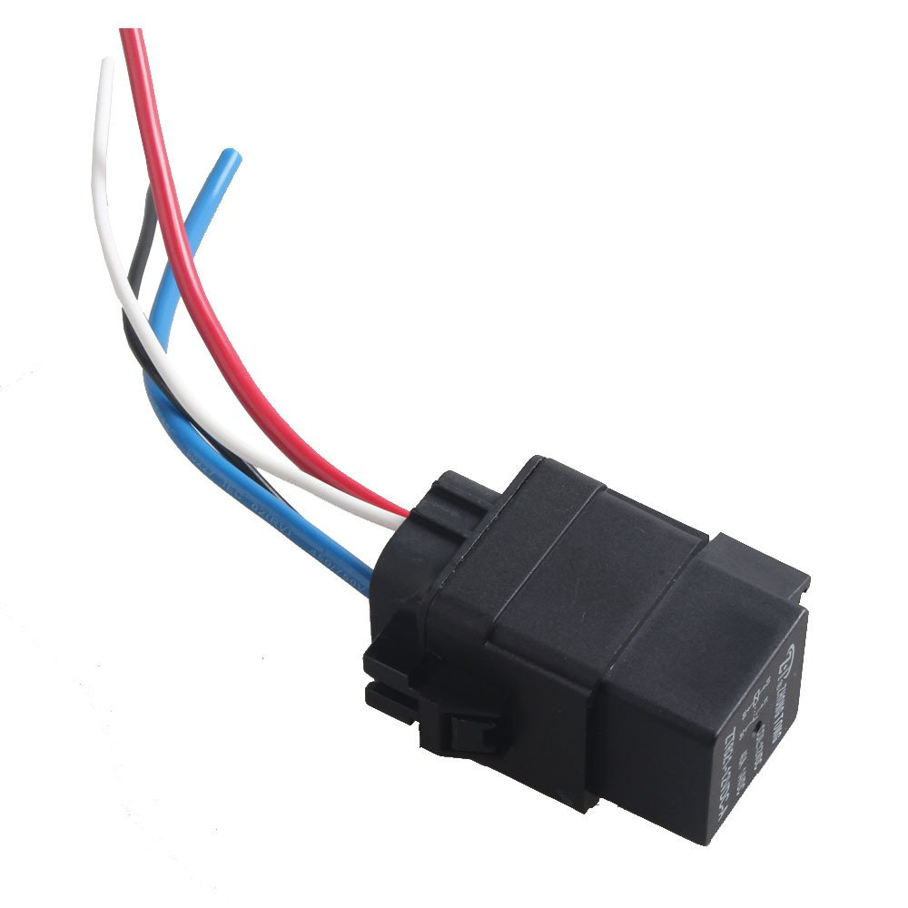 Etopars™ Car Vehicle Motor Heavy Duty 12V 40A SPST Relay Socket Plug 4Pin 4 Wire Waterproof Kit