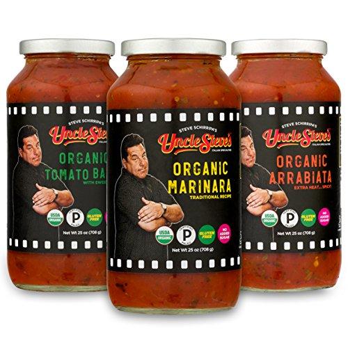 Tomato Sauce by Uncle Steve's – (Marinara, Tomato Basil, and Arrabiata) for Spaghetti, Pasta or Pizza