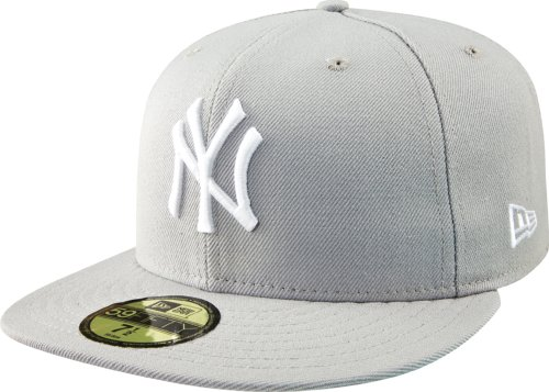 (MLB New York Yankees Basic 59Fifty Cap, Grey, 7)