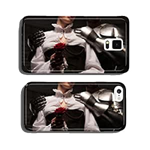 Knight giving a rose to lady cell phone cover case Samsung S5