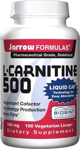 Jarrow Formulas L-Carnitine 500, 500 mg, 100 Licaps végétariens