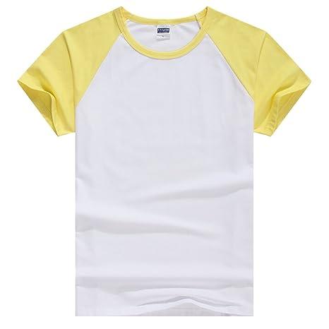 Butterme Camisa unisex mujer hombre Casual Manga corta algodón de lycra Béisbol Camiseta Raglan Jersey Nero-Donne L 820Gz