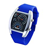OUMOSI Car Dashboard Dial LED Sport Watch Men Waterproof Wristwatch