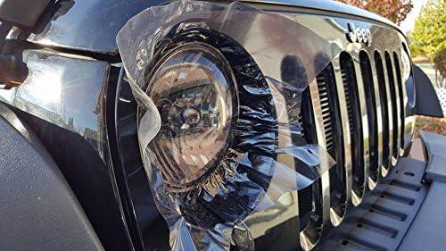 VViViD Dark Air-Tint Self-Adhesive Headlight Tinting Vinyl 12in by 24in 2-Roll Pack Dark Black
