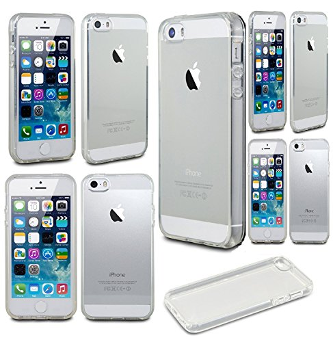 iPhone SE Case, iPhone 5 / 5S EZstation Soft Bumper Slim Clear Transparent Rubber Cover Case Snap-On Silicone Back Skin Case for iPhone SE / 5 / 5S (CLEAR)
