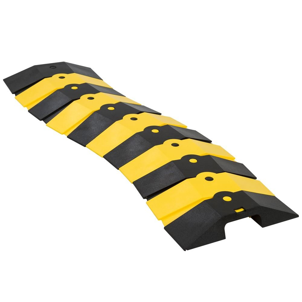 UltraTech 1830 Ultra-Sidewinder Cable Protection, 24' Medium System with End Caps, Black/Yellow 24 Medium System with End Caps UltraTech International Inc. 01830