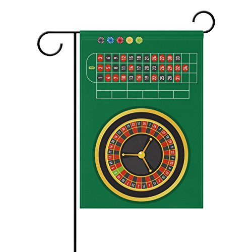 """LEISISI Roulette Table Garden flag 28""""X40"""" Two Sided Yard De"""