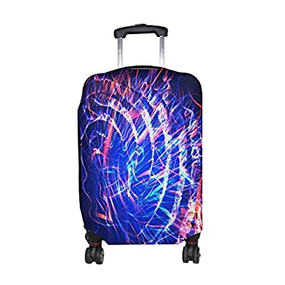665605b03ca8 Mahu Travel Luggage Cover Cool Blue Galaxy Space Suitcase Protective Cover  Washable Spandex Fit for 18
