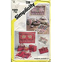 Simplicity Pattern 5311 ~ String Quilted Sewing Accessories and Wall Hangings by Marjorie Puckett