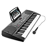 : Hamzer 61-Key Digital Music Piano Keyboard - Portable Electronic Musical Instrument - with Microphone