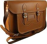 Oxford Bag Company Men's Classic Handmade Leather Satchel Brogue Design 15' Black