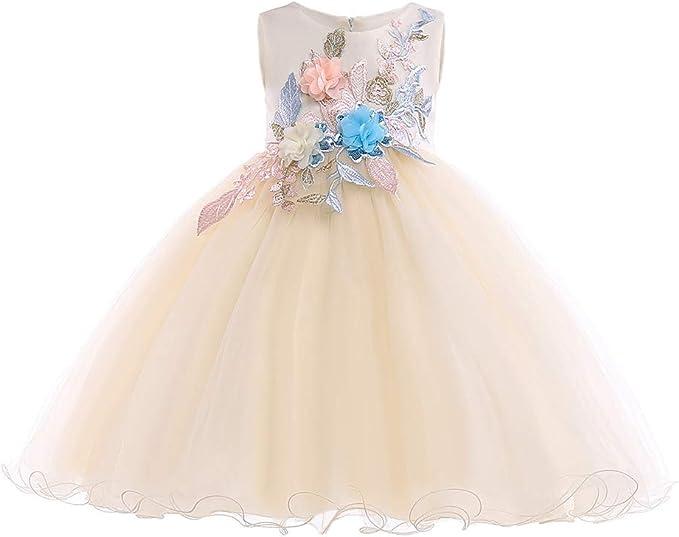 Kinder Mädchen Fest-kleid Tüll Abendkleider Prinzessin Kleider Party Festkleider