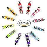 #7: TKOnline 12pcs Band Wrist Bell Musical Rhythm Toys Jingle Bells Ankle Bells Instrument Percussion Orchestra Rattles Toy For Kids
