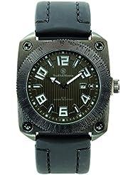 Smith & Wesson Mens SWW-5900-BLK Flight Deck Black Rubber Strap Watch