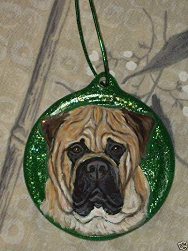 Bullmastiff Dog Christmas Ornament Custom Hand Painted