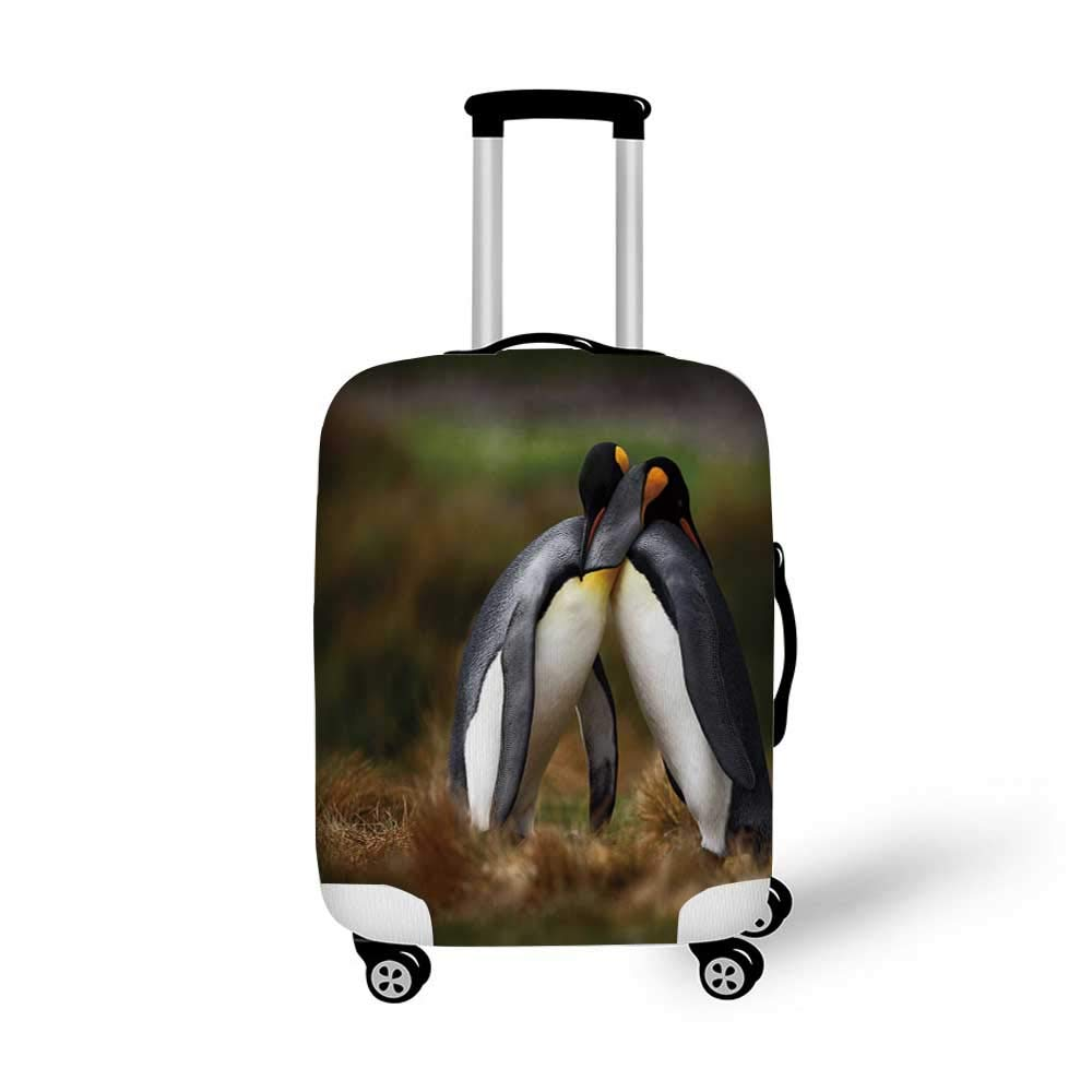 Animal Stylish Luggage Cover,Lemur Catta with White Ringed Tail Exotic Tropical Wildlife Animal Sketch Design for Luggage,L 26.3W x 30.7H